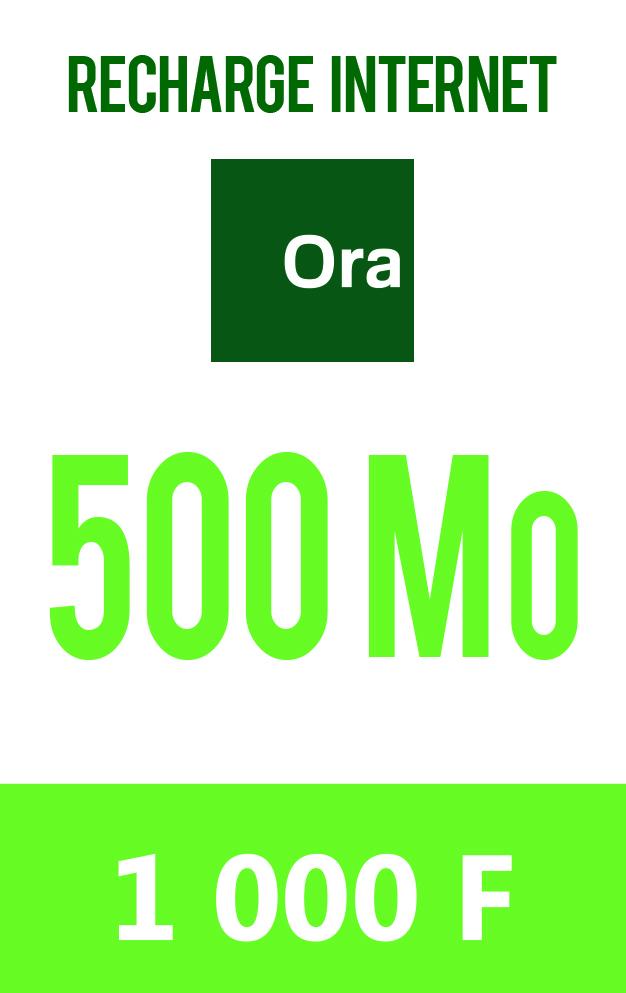 Carte prépayée 500 Mo à 1000 F